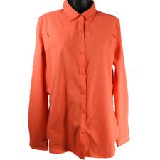 REI Orange Long Sleeve Button Up Outdoor Active Wear Shirt Women's Size Medium
