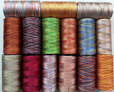 15 Spools Multi Shaded Embroidery/Sewing Thread 15 Colours - Good value