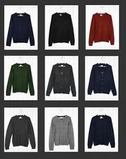 Wool V Neck Regular Thin Knit Jumpers & Cardigans for Men