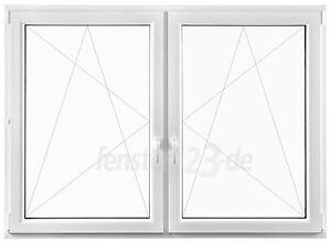 2-flügeliges Kunststofffenster Breite 2100mm alle Höhen zum dreh &kippen Pfosten