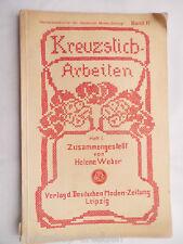 20310 Weber Kreuzstich-Arbeiten. Heft I. 4.A. Moden Zeitung  Bd 11 cross stitch