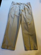 BROOKS BROTHERS Men's Country Club Beige Pleated Pants- Size 35 x 30- Ret $128