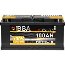 Autobatterie 100Ah +30% mehr Startkraft Starterbatterie (sofort betriebsbereit)