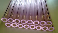 Glass Tubing PINK BOROSILICATE (PYREX) 16 PIECES 150MM LONG 9MM*2MM Tube