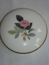 Round Trinket Box & Lid Wedgwood Hathaway Rose 1st Quality