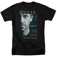 House TV Show Dr. House Houseisms Licensed Tee Shirt Adult Sizes S-3XL