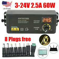 3v 24v 25a 60w Adjustable Power Supply Adapter Controller Lcd Display 8 Plugs