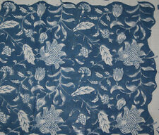 10yard Indigo Blue Hand Block Print 100% Cotton Fabric Printed Blu Dabu Fabric S