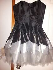 Black and silver masquerade dress size medium