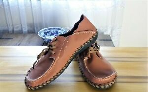 Custom Made  Cognac Leather Men's Shoes USA Sz 10-10.5 #315