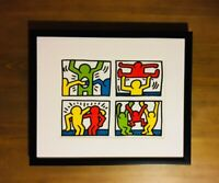 KEITH HARING Lithograph Print CUSTOM FRAMED Limited Edition Art Rare warhol