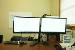 "Matching Dual 22""| Monitor w/Heavy Duty Stand &Dock Viewsonic VA2246m Full HD"
