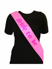 Pink Bride to Be Sash Womens Fancy Dress Hen Party / Wedding