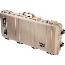 New Pelican Hardside Weapons Case w/ Foam Desert Tan 1700