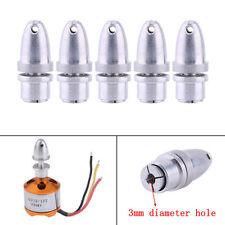 5pcs 3mm Aluminum Bullet Propeller Adapter Collet For RC Brushless Motor Prop