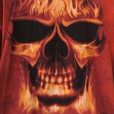 60ce9c8c1f9 Skul Bone David Penfound Shirt XXL Flames FireDyed Cotton Short Sleeve Skull