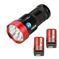 Tactical SKYRAY 20000LM 10x XM-L T6 LED Flashlight Waterproof LED Torch 4X 18650