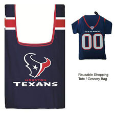New Jersey Style NFL Houston Texans Reusable Shopping Tote Grocery Bag