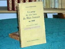 BLAISON UN PASSAGE DE VIVE FORCE DU RHIN FRANCAIS 1848