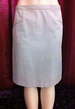 HELMUT LANG Women Mini Skirt Sz 12 (35 in Waist) Beige 1 Day Sale Cotton Elastan