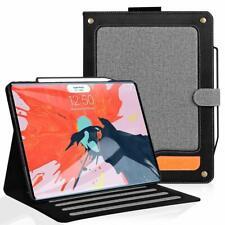 Case For iPad Pro 12.9 Auto Dormancy Multi Angle Viewing Stand Folio Cover Black