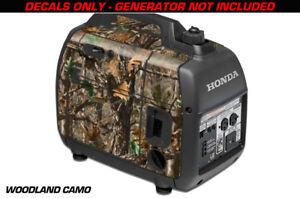 Aufkleber Wrap für Honda EU2000i Haut Camping Generator Motor Woodland Camo