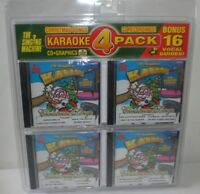 The Singing Machine Christmas Songs Karaoke 4 Pack CDs Graphics Holiday Music