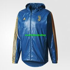 NEW Adidas Mens Juventus FC 3S Training Windbreaker Soccer Jacket XL - RARE