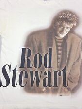 Vintage Rod Stewart In The Round Tour 1996 White XL T-Shirt Classic Rock Concert