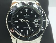 Winner Automatic Self Wind Men's Stainless Steel Watch (black)