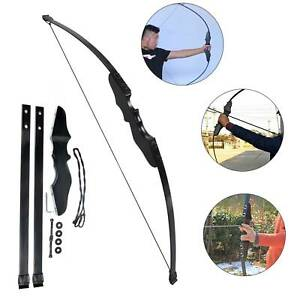"""54""""40 lb Archery Hunting Recurve Compound Bow High Powered Longbow Right Handed"""