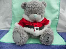 Me To You peluche ours 28 cm assis * ESPRIT NOEL * veste rouge ceinture noire
