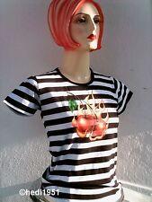 Tricky Cherry cerezas rockabilly dots rayas camisa s