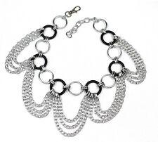Halsband Kette mit O ring u. Silber Ketten Gothic Punk Halskette Party Clup