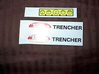 TONKA TRUCK TRENCHER DECAL SET