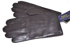 NEW Polo Ralph Lauren Men's LEATHER Thinsulate CLASSIC WINTER Gloves PONY LOGO M