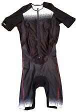 LG Louis Garneau Aero Tri Suit. Triathlon. Mens Medium Short Sleeve Aero Suit