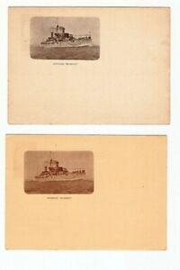 ARGENTINA 7 PPC OLD 1901 BATTLESHIP SAN MARTIN  BELGRANO  UNUSED FVF