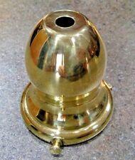 "2 1/4"" LAMP SHADE HOLDER SOLID BRASS REPAIR FIXTURE 433"