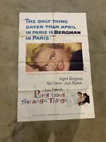 PARIS DOES SUCH STRANGE THINGS MOVIE POSTER FOLDED 27x41