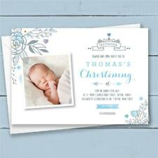 10 Personalised Christening Invitations invites boy
