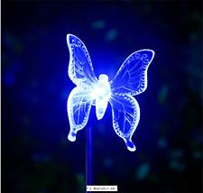 Cambia colore luce Paletto solare-FARFALLA (Blu)