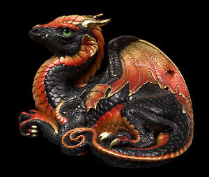 """Windstone Editions """"Black Rust"""" Old Warrior Dragon Test Paint #1"""
