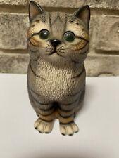 Vtg House of Global Art Harvey Knox Tabby Cat Figurine Japan Hand Painted
