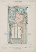 LAROCHE, Glasfenster mit Draperie, Croisée drapée fantaisie, 19. Jhd, Farblith.