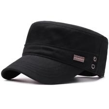 Cap Army Military Hat Classic Style Cadet Cotton Vintage Plain Patrol Combat