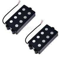 2 Sets Belcat 4 String Bass Humbucker Double Coil Pickup Black For Bass Guitar