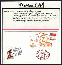 1981 PONY EXPRESS  LOCAL POST COVER WITH 30c CINDERELLA TIED TO COVER.