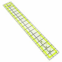 Arteza Quilting Ruler, Laser Cut Acrylic Quilters' Ruler with Patented Double