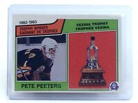 1983-1984 Pete Peeters #209 Boston Bruins OPC O-Pee-Chee Hockey Card H705